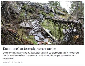NRK avfall i ravine